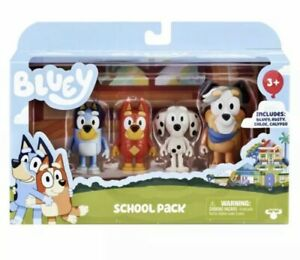 Bluey School Pack Figurines 4 Pack From Moose Toys - New - SAME DAY EXPRESS POST