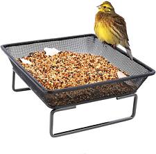 New listing Platform Ground Bird Feeder Tray Metal Mesh Squirrels Outdoor Garden Decoration