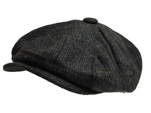 G&H 8 PANEL BAKERBOY,NEWSBOY,PEAKY BLINDER FLAT CAP 1920S CABBIE FLAT CAP