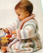 Beautiful baby  DK  Dressing gown Knitting pattern- Lovely easy knit