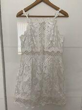 Vestido De Encaje Topshop Blanco Talla 8