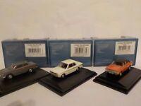 Ford Cortina Mk1,Mk2,Mk3, Grey, White,Orange, Model Cars, Oxford Diecast 1/76