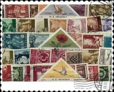 More details for croatia before 1945 : 50 different stamps collection