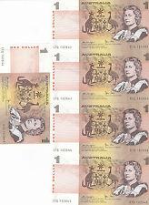 1979 One Dollar Knight/Stone UNC 5 Consecutive Notes CTQ 162642/647