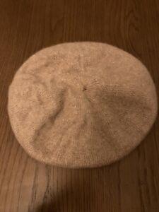 Helen Moore @ Anthropologie Camel Grey Scottish Cashmere Beret Hat