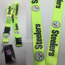NFL Pittsburgh Steelers Clip On Lanyard (Neon Color)