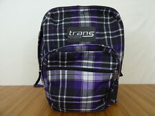Jansport Trans Supermax Backpack - Purple Black & White Plaid - In Great Shape