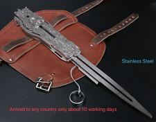 Assassin's Creed Hidden Blade Cosplay Alloy 1:1 Sleeve Arrow Catapult Props DHL