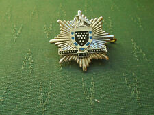 OBSOLETE CORNWALL FIRE BRIGADE - ENAMEL CAP BADGE