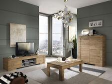 Tavolino da salotto basso moderno Milano rovere miele sala soggiorno