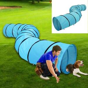 5.2M Blue Pet Tunnel Puppy Dog Agility Training Outdoor Run Exercise Playing