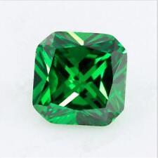 Green Emerald Sapphire 7.27CT 10x10MM Cushion Cut AAAAA VVS Loose Gemstone