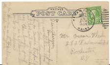 DPO 1934 Kezar Falls ME Duplex Cancel on PPC of Camp Hiawatha