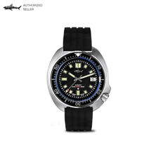 Turtle Reissue 6105 Vintage Dive Watch Black Aluminum Insert NH35A Automatic
