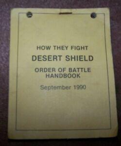 POCKET HANDBOOK, DESERT SHIELD / STORM, 1990 DATED, U.S. ISSUE *NICE*