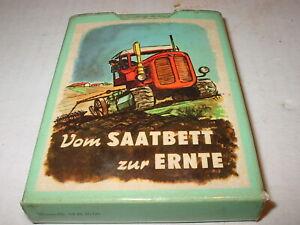Altes Werbe Kartenspiel VVB Landmaschinen - und Traktorenbau  komplett