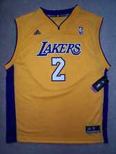 ADIDAS Los Angeles Lakers DEREK FISHER nba Jersey YOUTH KIDS BOYS m-medium