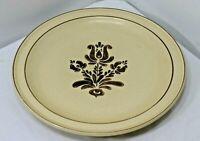 """PFALTZGRAFF Stoneware~Village Design~10 3/16"""" Dinner Plate~Brown/Cream (1 only)"""