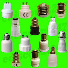 FULL RANGE BC ES SES SBC GU10 Adaptor Lamp Holder Socket Converter Extender UK