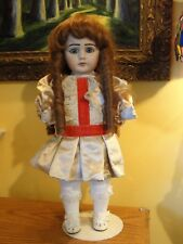 """Antique French Bru Doll Reproduction Beautiful Red Head 19"""" Signed All Bisque"""