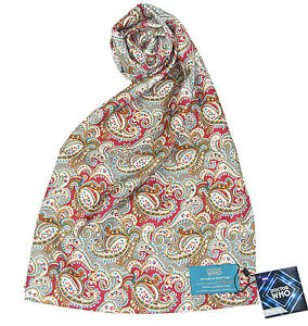 Seventh Doctor Silk Scarf - Official Sylvester McCoy Doctor Who 7th Doctor Gifts