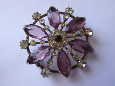 Vintage Silver and Stone Set Brooch in H Samuel Jewellery Box