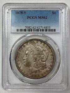 1878-S  Morgan Silver Dollar - PCGS MS 62
