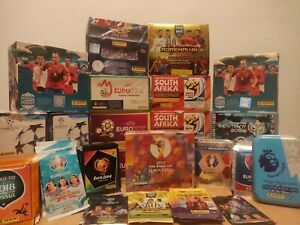 Football (Soccer) 10 Mixed Packs Lot- Stickers and Sports Cards- WC, EURO, CL