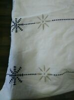 Ikea Embroidered Twin Duvet Cover White