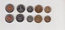 RWANDA: 5-PIECE UNCIRCULATED CURRENT COIN SET, 1 - 100 FRANCS
