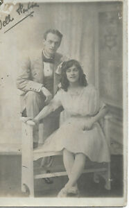 Theatrical Couple? - Husband & Wife? Real Photo Postcard (SH260S)
