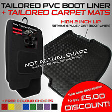 Dacia Duster (2010 onwards) Tailored PVC Boot Liner + Tailored Carpet Car Mats