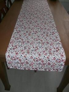 Tischläufer Tischdecke Weiss Bunt  30cm x 100cm Tischdeckchen Tischdeko  Neu
