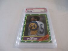 PSA Graded 1986 Topps #88 Mike Wilcher Los Angeles Rams Football Card NM-MT 8.5