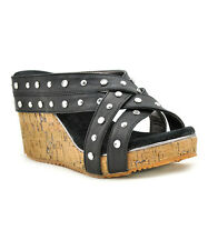 Volatile Basketry Women's Cork Wedge Sandals Shoes Size 8