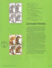 #9530 32c Carousel Horses #2976-2979 USPS Souvenir Page
