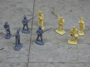 9Pc Airfix & Other Compatible NapoleonicBritish  Infantry Soldiers Lot#4912K