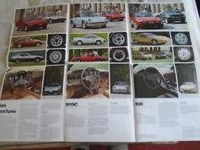 Porsche range poster brochure Aug 1986 German text 928 S4 poster
