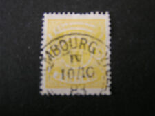 *LUXEMBOURG, SCOTT # 32, 5c. VALUE YELLOW 1876 LUXEMBOURG PRINT ISSUE USED