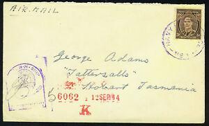 AUSTRALIA 1944 NAVY POST OFFICE NO.1 CENSORED H.M. SHIP