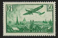 """France 50F """"Poste Aérienne N°14 - Avion survolant Paris"""" NEUF** LUXE, 1936"""