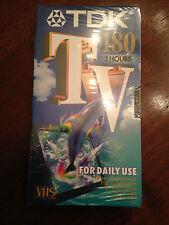 Videocassetta / Videotape VHS Pal / Secam TDK 180 - Nuova / New