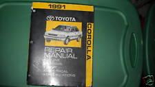1991 Toyota Corolla Service Repair Shop Workshop Manual OEM Factory