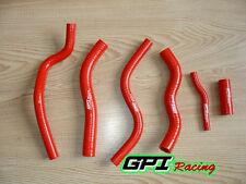 FOR Honda CR 125 CR125 1990-1997 91 92 93 94 95 96 silicone radiator hose red