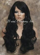 Super Luscious Layered Extra Long Wavy Stunning Off Black FULL wig WBBW 1B