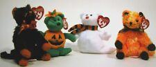 TY Cats Bear ghost Halloween plush ornament set (4)
