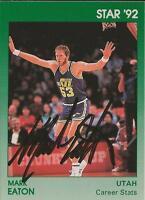 Mark Eaton 1992 Star Autograph Card JSA Jazz