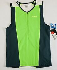Triathlon Mens Jersey Zoot Performance Green 1/4 Zip Extra Large New With Tags