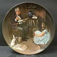 "KNOWLES NORMAN ROCKWELL THE STORYTELLER PLATE 8.5"" LIMITED EDITION #7078R"