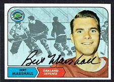 Bert Marshall #79 signed autograph auto 1968 Topps Hockey Trading Card